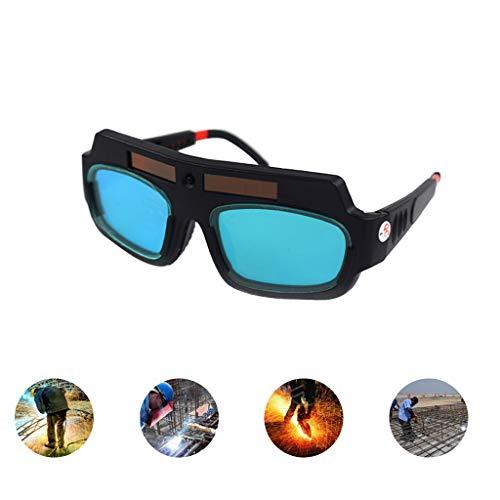 Solarbetriebene Schweißbrillen Beschützer Augenpflege Schweißer Brillen Brillen Auto Verdunkelung Helm Schweißmaske
