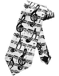 cravate Steven Harris notes de musiques noires - blanc - taille unique