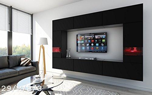 FUTURE 29 Moderne Wohnwand, Exklusive Mediamöbel, TV Schrank, Schrankwand,  TV