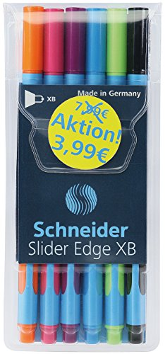 Schneider Kugelschreiber Slider Edge, 6er Etui
