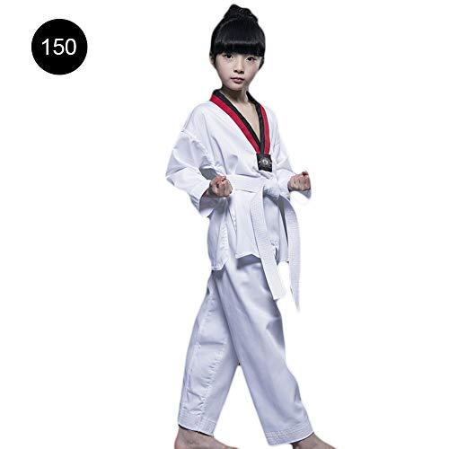 Costume da arti marziali abbigliamento da taekwondo completo da karate kimono arti marziali uniforme karate con cotone con scollo a v kimono karate per adulti e bambini colore bianco