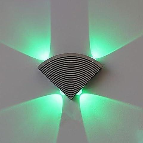 ASNSWDC® lampada da parete ventilatore portato quattro luci acrilico alluminio