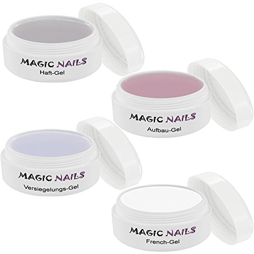 Magic Items Lot Gel UV 4 haft Gel Gel de construction Colles Gel frenchgel je 15 ml