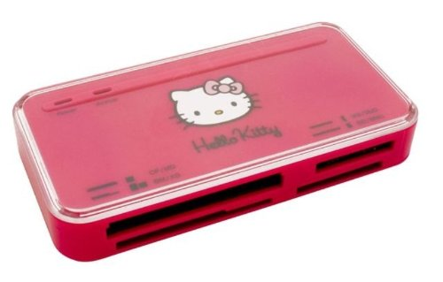 Preisvergleich Produktbild Saitek Hello Kitty 53-in-1 Kartenleser pink