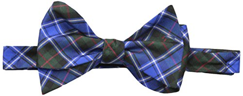 Tommy Hilfiger Men's Red Window Plaid Self-Tie Bow Tie, Blue, One Size (Tommy Hilfiger Herren Plaid)