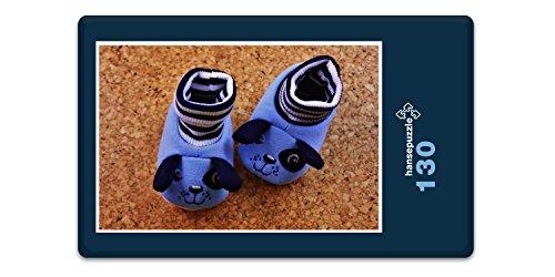 hansepuzzle 29338 Menschen - Baby-Schuhe, 130 Teile in hochwertiger Kartonbox, Puzzle-Teile in wiederverschliessbarem Beutel
