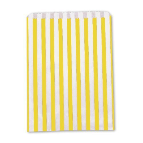 the-paper-bag-company-candy-stripe-paper-bags-5-x-7-inches-yellow-pack-of-200