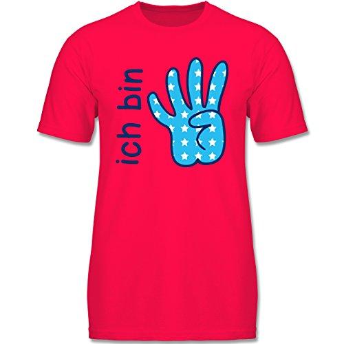Geburtstag Kind - Ich Bin 4 Junge Zeichensprache - 116 (5-6 Jahre) - Rot - F140K - Jungen T-Shirt