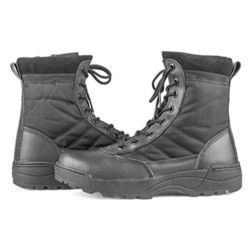 Highdas Herren Outdoor Boots Army Stiefel - High Worker Boots Einsatzstiefel Kampfstiefel Wanderschuhe Combat Boots Leinenschuhe Tactical Schuhe Braun 45 k701cA3QGN