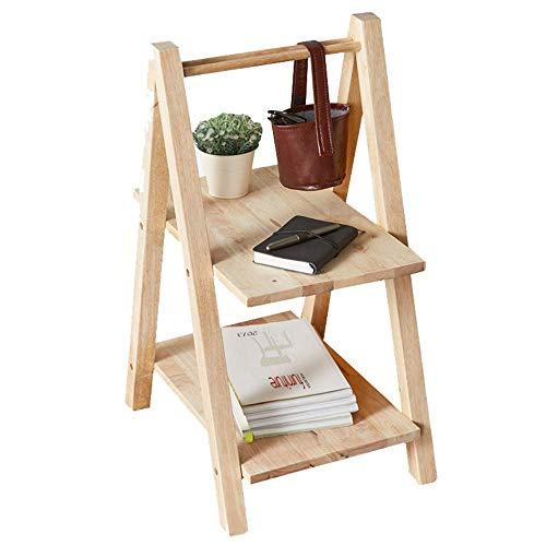 O&YQ Einfache Haushalt Lagerung Halter Shelving Ladder Bücherregal Anlehnen Home Office Freistehende Holzrahmen Dekor Bücherregal Lagerung Blume Regal Display Regal -
