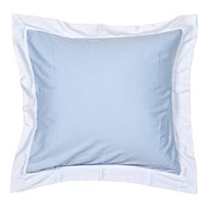 feather & black William Blue Continental Pillowcase