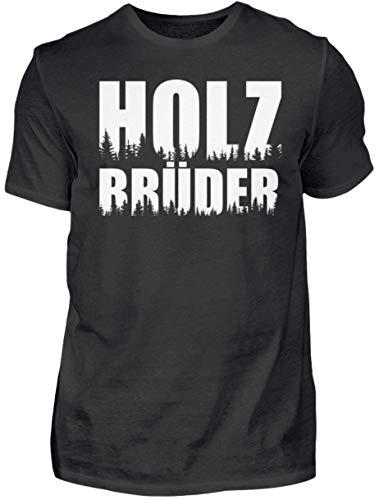 HOLZBRÜDER® Holz T-Shirt für die Arbeit mit der Kettensäge im Wald - Kettensäge - Fichten - Forstwirtschaft (M)