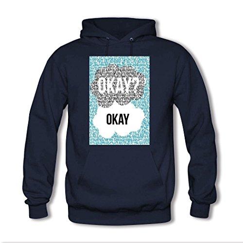HGLee Printed Personalized Custom okay okay Women's Hoodie Hooded Sweatshirt Navy