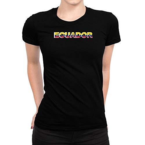 Idakoos Ecuador Country Flag Damen T-Shirt M -
