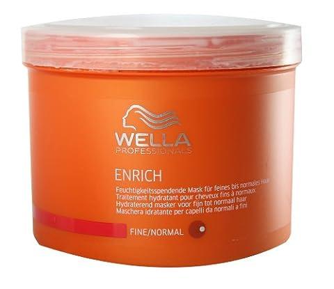 Wella Professionals Enrich unisex, Feuchtigkeitsspendende Mask für feines bis normales Haar 500 ml, 1er Pack (1 x 1 Stück)