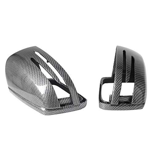 SODIAL Für Benz C Klasse W204 E W212 CLS C218 Gla X156 Rück Spiegel Abdeckung Kohle Faser 1 Paar (Faser Klasse)