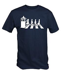 """ GALLIFREY ROAD "" T Shirt ( Navy Blue )"