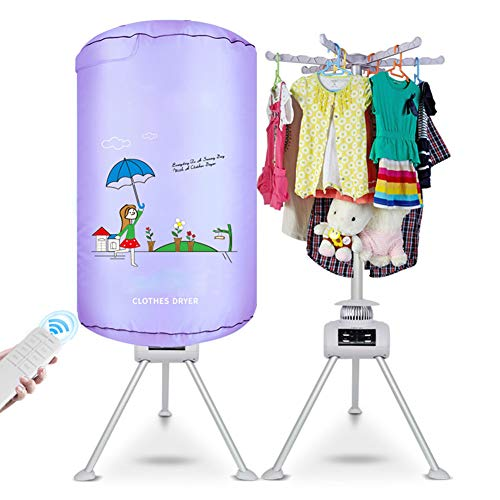 RSTJ-Sjec Elektrische Kleidung Dryer Silent Power-sparende Heißluft-Maschinen Falten Portable Baby Quick-Trocknungsmittel Intelligente Fernbedienung Elektro-Schrauben-Kleidung