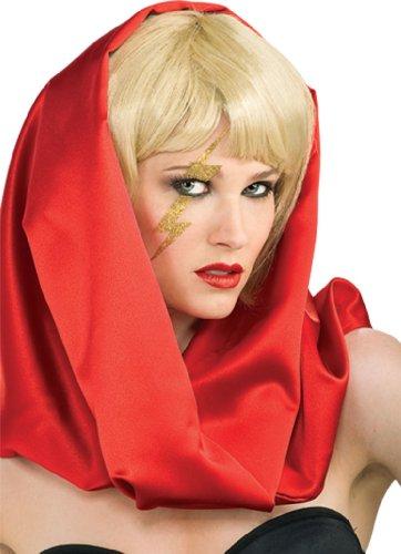 Lady Gaga Kostüm Zubehör Tattoo Hautaufkleber Lightning Blitz gold
