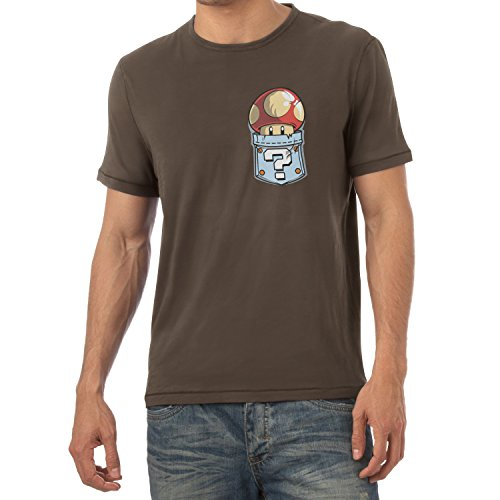 TEXLAB - Mushroom in a Pocket - Herren T-Shirt Braun