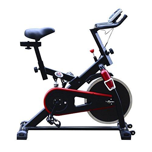 homcom Cyclette Professionale per Allenamento Spinning 103 × 45 × 105cm Nero