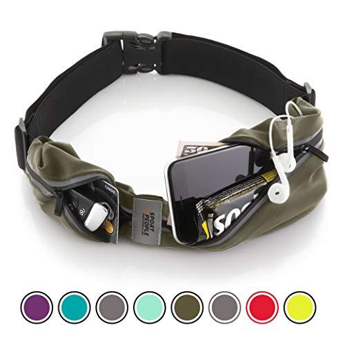 Cintura da corsa - iPhone X 6 7 8 Plus sacchetto per corridori. Riflettente marsupio porta telefono. Corsa accessori per uomini, donne (Verde navy)