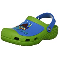 Crocs Creative Phineas & Ferb Volt Green/Ocean Mules And Clogs Sandal 14041-37E-110 7 UK  6/7 Child UK