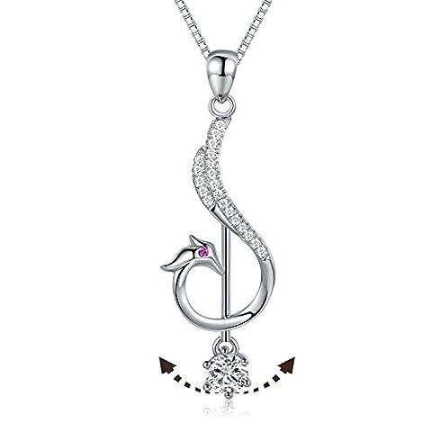 JiangXin Phoenix Damen Anhänger 925 Sterling Silber Kette Halskette [Wiedergeburt