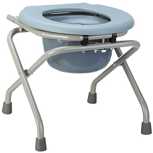 FJXLZ® Commode chaise, pliable antidérapant salle de bain vieil homme femmes enceintes pot chaise 40x40x41cm Détachable, léger