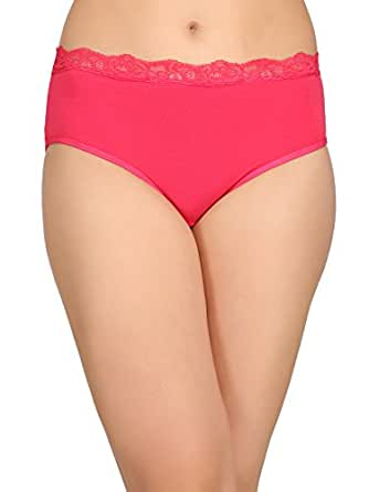 Clovia Women's Plain/Solid Hipster (PN2383P14_Pink_Small)