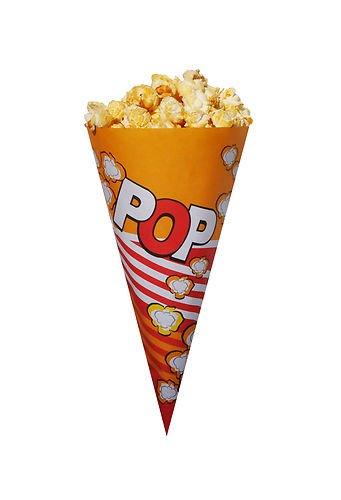 100 x Groß Popcorn Tüten/ Popcorn Kegel