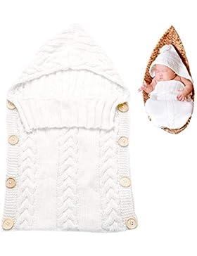 Baby Schlafsäcke, Tinabless Warme Wrap Swaddle Decke Schlafsack Kinderwagen Wolle gestrickte Baumwolle Kuscheldecke...