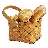 AosyGFR Hand-Woven Storage Basket Fruit and Vegetable Handle Basket Picnic Shopping Basket Home Storage Basket