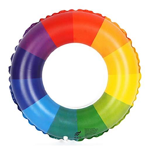 ing Regenbogen Design Inflatable Swim Ring Rubber Beach Tube,60# ()
