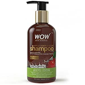WOW Apple Cider Vinegar Shampoo-No Sulphate & Parabens-Infused Natural Apple Cider Vinegar-300mL