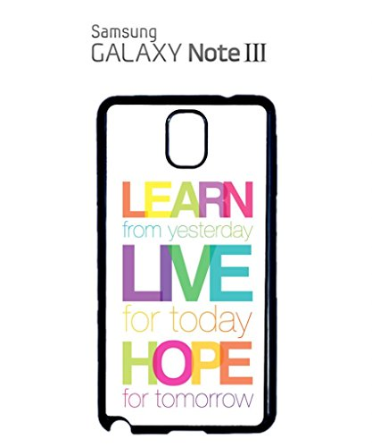 Learn Live Hope Quote Mobile Cell Phone Case Samsung Note 2 Black Noir