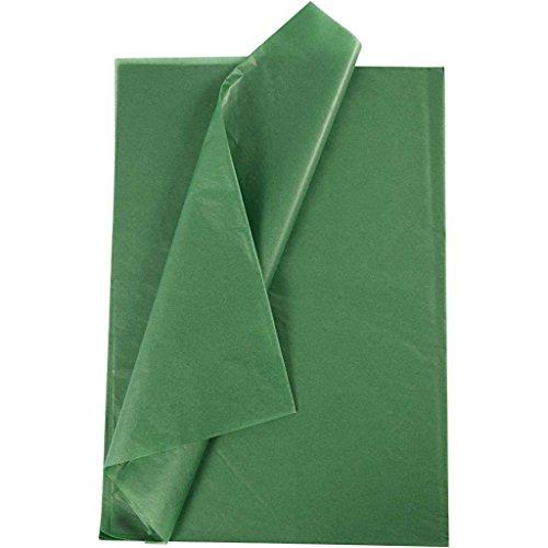 Seidenpapier, Blatt 50x70 cm, 14 cm, grün, 25Blatt Grün 14