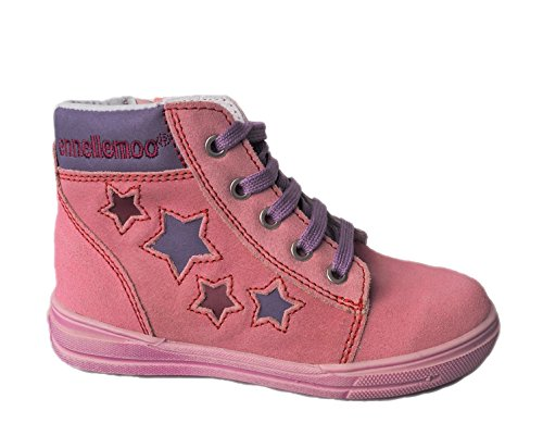 ennellemoo®  Made in EU , Chaussures bateau pour fille Koralle/Pink