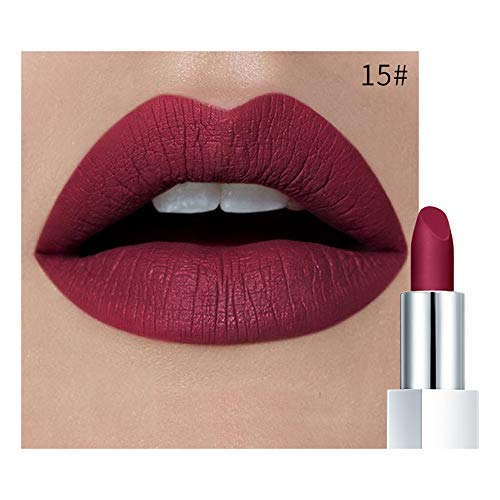 Aktionspreis,Lippenstift,PorLous Neu Beliebt Schönheit Wasserdichter Lippenstift Mattkürbis Essen Sie Erde-reiche Vitamin E-Feuchtigkeit Feuchtigkeitsspendend 15