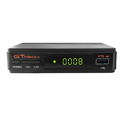 Docooler GTMEDIA V7S HD DVB-S2 Receptor de TV Retransmisión de Video Digital Receptor de 1080P HD Receptor de TV USB EPR para TV HDTV Enchufe de la UE
