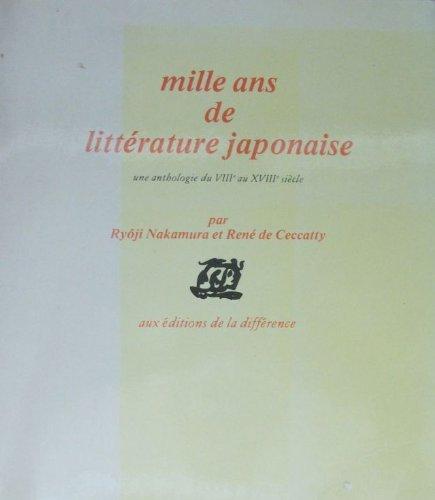 Mille ans de littérature japonaise par Ryôji Nakamura