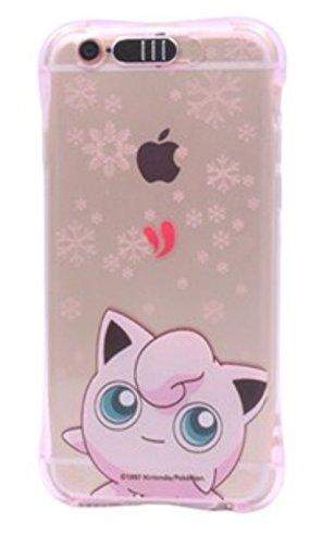 PhoneKandy Anti-choc Anti Bump Transparent TPU Couleur Pokemon Light Up boîtier de téléphone Coquille LED Flash éclairé (iPhone 7 (4.7'), Rose - Jigglypuff)