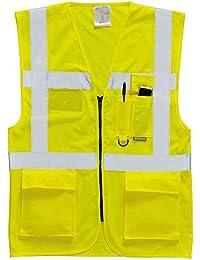Portwest Mens High Visibility Viz Safety Workwear Executive Vest Waistcoat