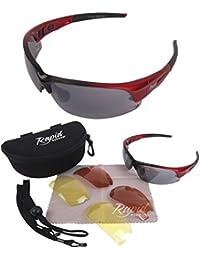 Edge Rot Pilotbrille mit Wechselgläsern: Entspricht den UK CAA Empfehlungen