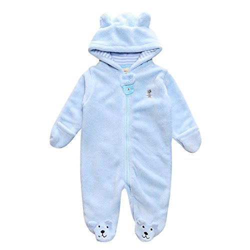 (Kleider Kinderbekleidung Honestyi Herbst Winter Neugeborenes Baby Infant Boy Girl Bär Hoodie Jumpsuit Kleidung (Hellblau,3))