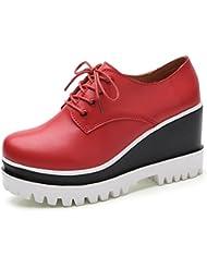 Mme Spring pente accrue avec des chaussures à fond épais femmes chaussures chaussures de sport chaussures blanches à l'intérieur