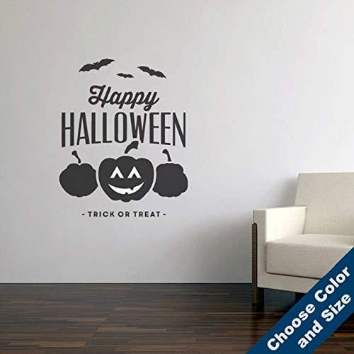fenshop Happy Halloween Wandaufkleber Urlaub Aufkleber Vinyl Wandtattoos Home Living Room Decorv 57x70cm