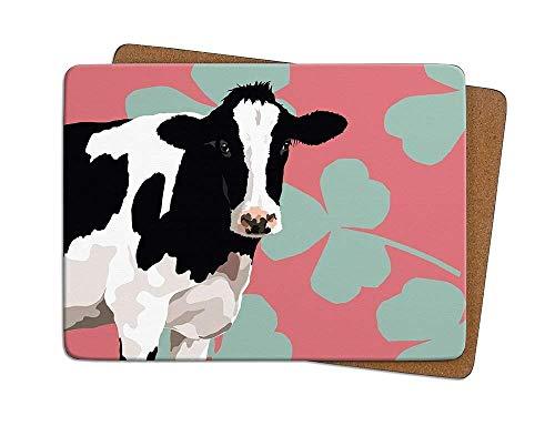 FRIESISCH Kuh–von 4Tabelle Mats–Leslie Gerry Animal GESCHENKE