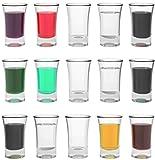 STAR - LINE 12 Schnapsgläser Shotgläser Set Glas 4cl | Standfest - Spülmaschinenfest | Pinnchen Gläser für Tequila Wodka