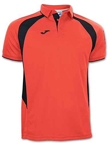 Polo JOMA CHAMPION 3 Orange / Noir orange fluor-schwarz